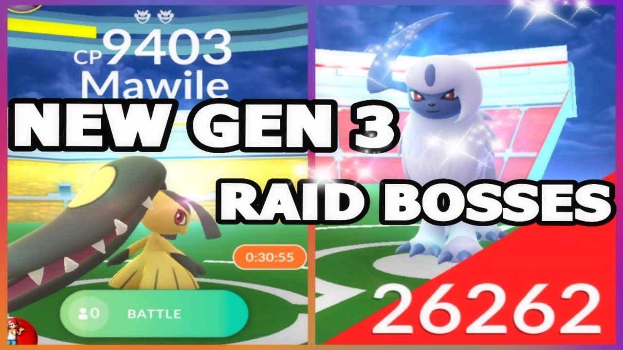 Pokemon go new gen 3 raids mawile absol raid bosses gen 3 pokemon go new gen 3 raids mawile absol raid bosses gen 3 shiny in game sciox Image collections