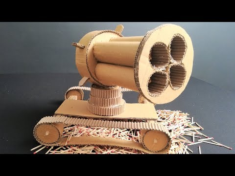 How To Make Multi Cannon Tank - Cardboard DIY