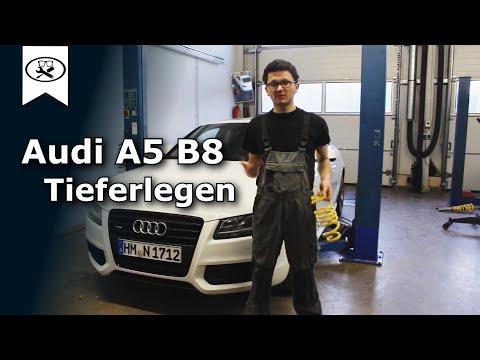 Audi A5 B8 Tieferlegen   lowering springs install   VitjaWolf    Tutorial   HD