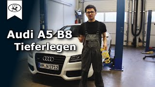 Audi A5 B8 Tieferlegen | lowering springs install | VitjaWolf  | Tutorial | HD