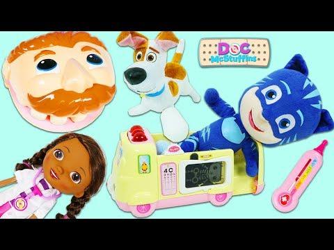 Mr. Play Doh Head, PJ Masks Catboy, & SLoP Max Visit Disney Jr Doc McStuffins Toy Hospital!