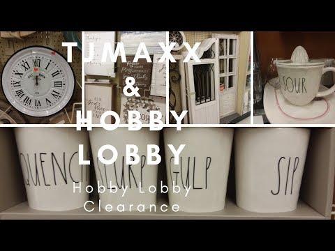 TJ MAXX SHOPPING | HOBBY LOBBY 75% OFF CLEARANCE