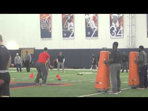Tre Mason - Auburn 2014 NFL Pro Day, On-Field Drills and Testing