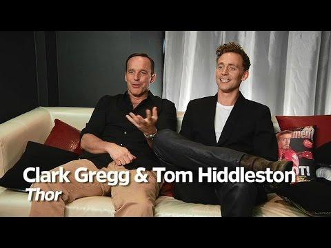 Tom Hiddleston and Clark Gregg   Comic Con 2010