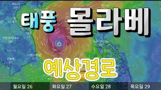 2020년 18호태풍 몰라베 현재위치,예상경로