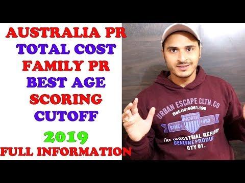 2019 AUSTRALIA PR TOTAL COST | FAMILY PR | AGE | CUTOFF | SCORING | FULL INFORMATION