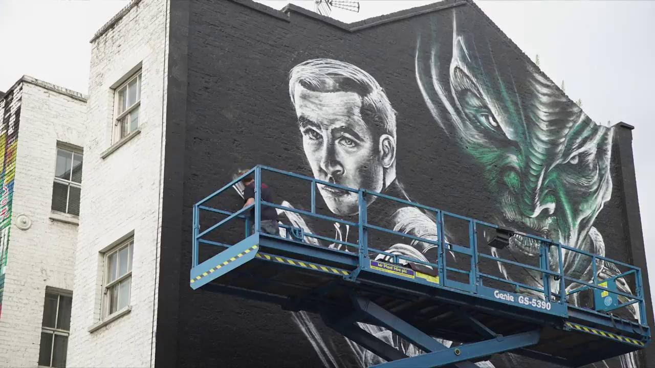 Star Trek: Beyond: Time Lapse Of Movie Mural In London Part 79
