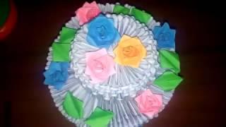 як зробити торт з модулів орігамі