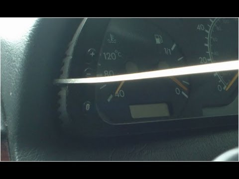 How to remove Mercedes W202 Instrument cluster with a windshield wiper