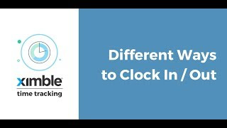 In this video series we will showcase the functionality of ximble's powerful time tracking module and it's numerous features. focus on differ...