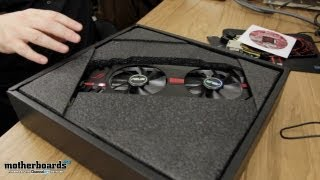 asus matrix hd 7970 platinum edition video card unboxing hands on