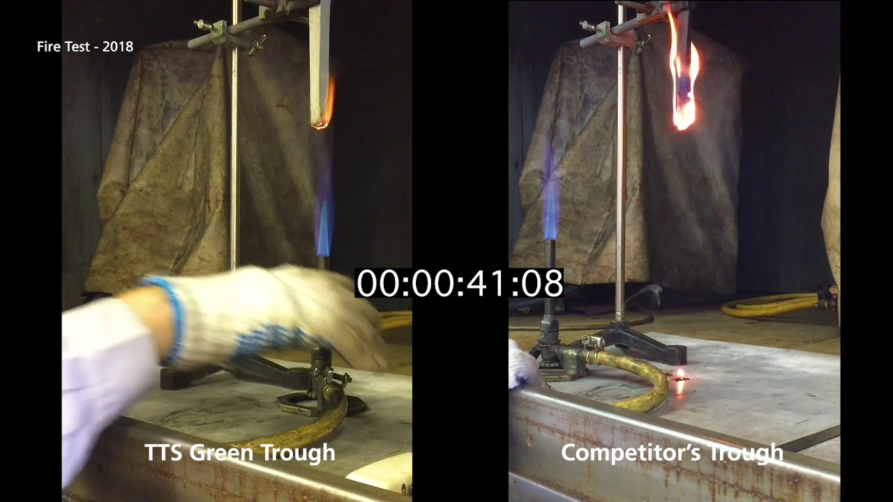 Trough-Tec Systems (TTS) - Green Trough Fire Test