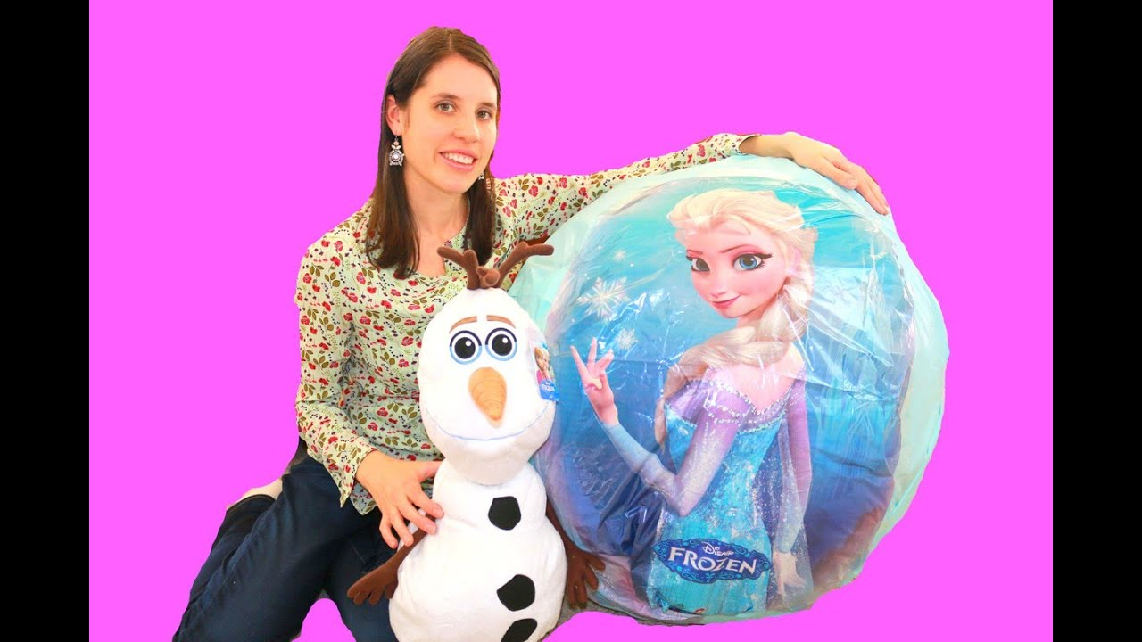 Olaf Anna Huge Surprise EGG New Barbie Dolls YouTube