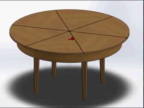 круглый раздвижной стол трансформер своими руками чертежи