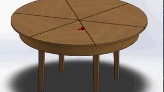 как сделать круглый стол трансформер своими руками чертежи