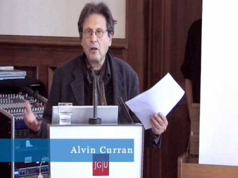 Music Outside the Concert Halls. Vortrag von Alvin Curran 2/5