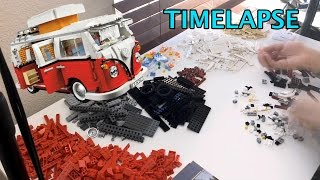 Lego Volkswagon T1 Camper Van 10220 [ Time Lapse / Speed Build ]