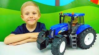 Синий Трактор Bruder New Holland T8040 - Машинки Брудер - Игрушки для мальчиков(Трактор для детей от легендарного производителя очень качественных игрушек компании БРУДЕР. Вместе с маль..., 2016-09-26T14:21:58.000Z)