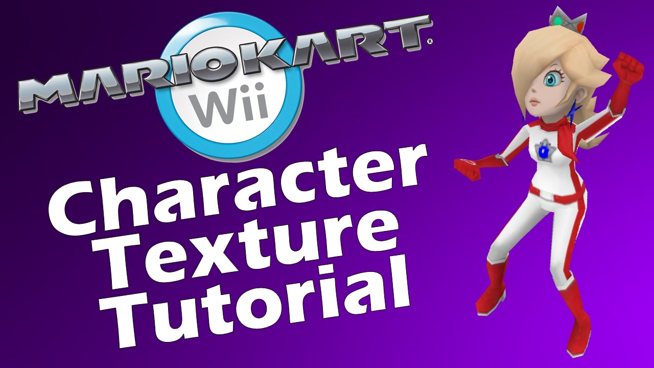 Custom Character Texture For Mario Kart Wii Quick Tutorial