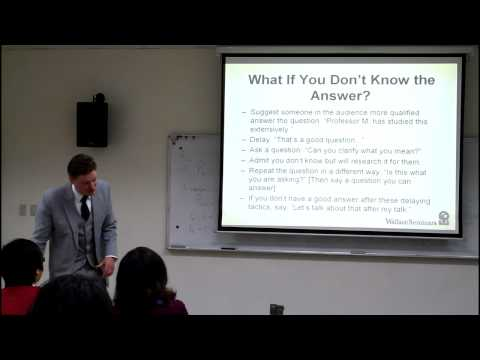 How to Present a Paper at an Academic Conference (8/8)