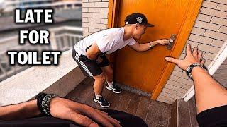 LATE FOR TOILET | Parkour POV Escape From Toilet Security | Đi Tìm Toilet