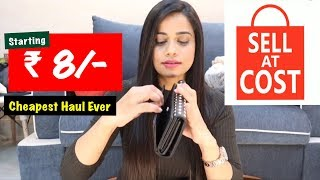 SELL AT COST HAUL starting ₹8/- | MY CHEAPEST HAUL EVER | Sana K
