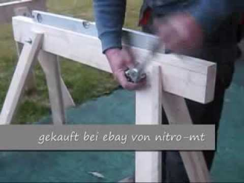 zusammenbau holzb cke arbeitsb cke holzbock profi arbeitsbock ger stbock youtube. Black Bedroom Furniture Sets. Home Design Ideas