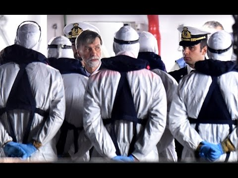 Migrant ship captain and crew member arrested
