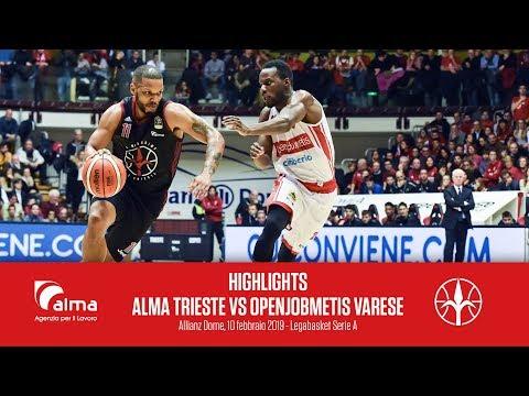 Highlights Alma Pallacanestro Trieste Vs Openjobmetis Varese
