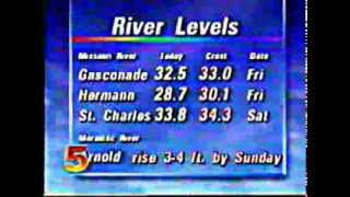 st louis newscast from 1993 floods channel 5 ksdk