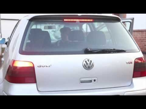 Replacing VW Golf rear Brake light bulb - How to Remove and Fit New Bulb