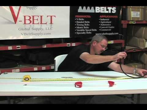 How to Measure V-Belts