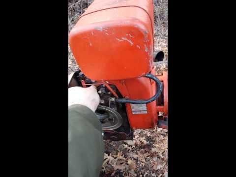 Old 39 77 kohler k161 7 hp troy bilt horse tiller engine for Soil x cleaner