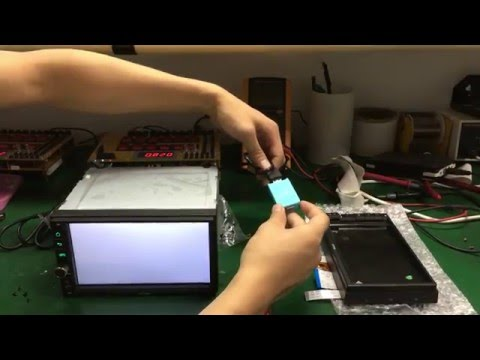 JOYING repair White screen have sound on android car radio stereo quad core 1024*600