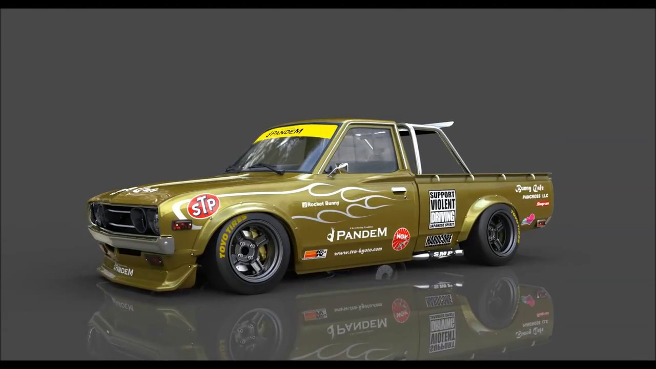 Pandem Datsun 620 - YouTube