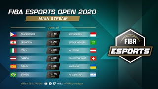 Game TV Schweiz - FIBA esports Open 2020 - Main Stream, Day 2 | !schedule - !standings