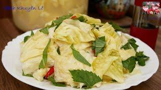 DƯA BẮP CẢI MUỐI CHUA không cần Giấm - Cách làm Dưa chua theo cách cổ truyền by Vanh Khuyen