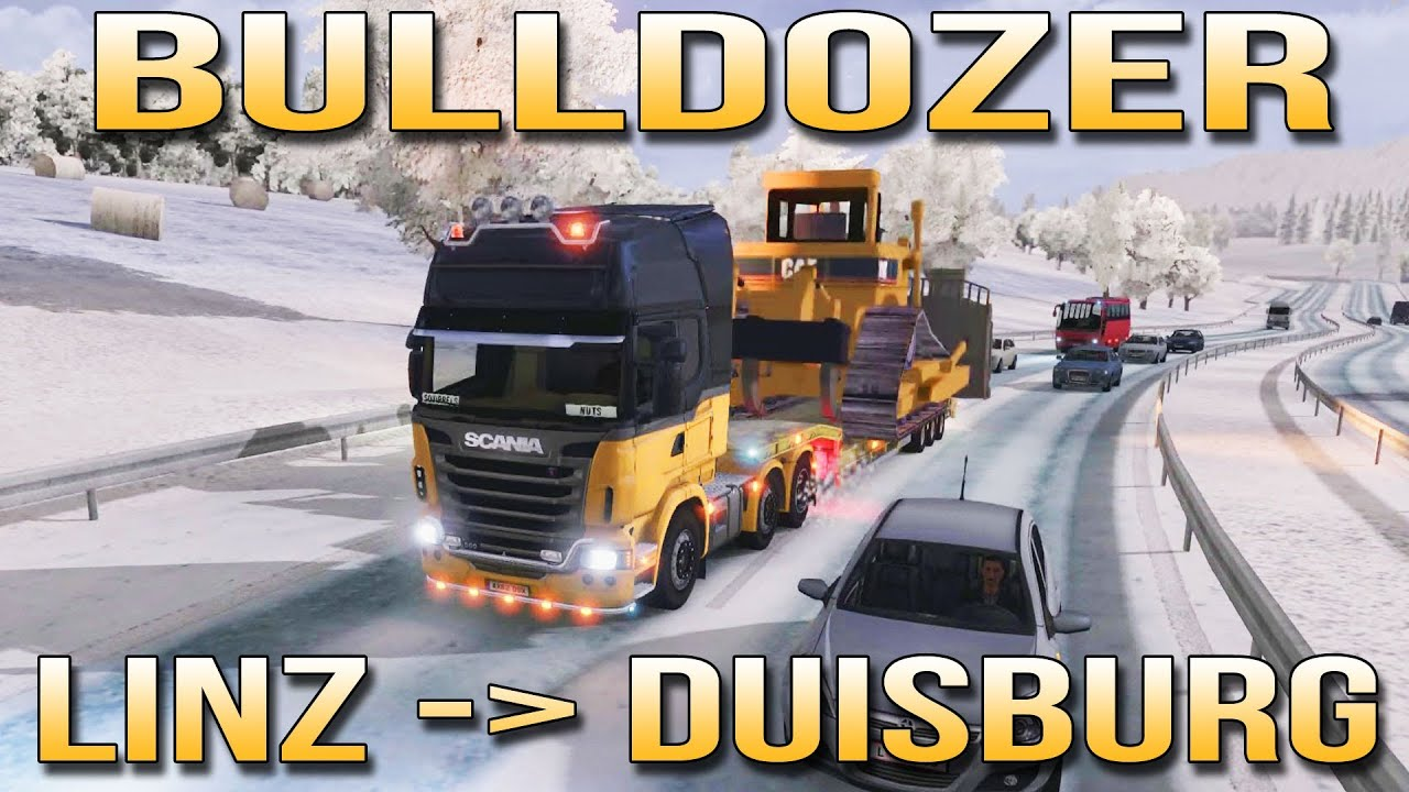 Do It Yourself Werkstatt Duisburg Bulldozer Linz To Duisburg Euro Truck Simulator 2 Ets2 Inc Track Ir