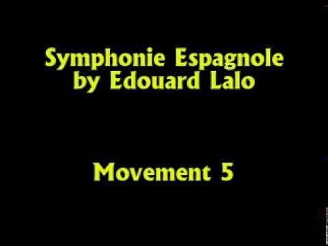 Semyon Snitkovsky plays Spanish Symphony by Edouard Lalo, Movement 5