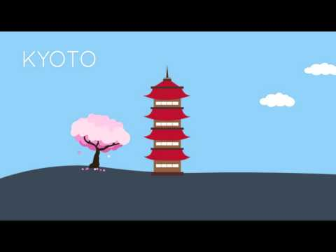 Top 20 Travel Destinations Flat Design Animation