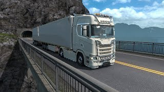 Euro Truck Simulator 2  #6 ДВУХЭТАЖНЫЙ ТРЕЙЛЕР С ЖИВЫМ СКОТОМ