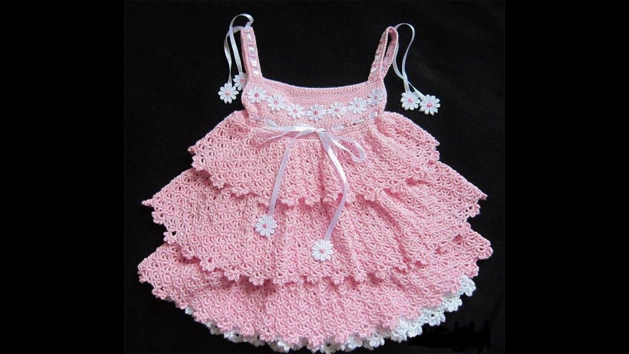 Детские вязаные платья ручной работы