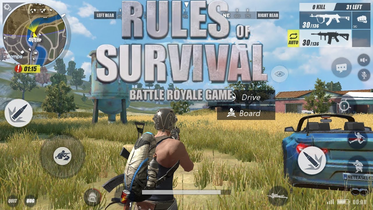 Rules Of Survival Apk Mod Pubg Android Download: RULES OF SURVIAL BATTLE ROYALE GAME! EPIC ANDROID IOS