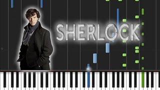 Sherlock BBC - Main Theme Piano Cover [Synthesia Piano Tutorial]