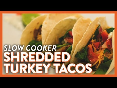 Slow Cooker Shredded Turkey Tacos   Legendary Recipe