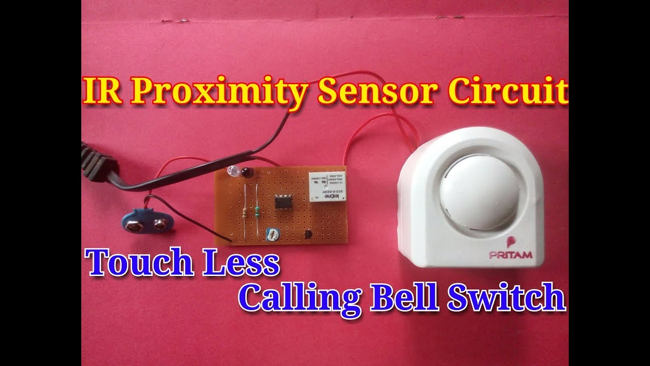 simple doorbell circuit diagram gmc sonoma stereo wiring ir proximity sensor use as touchless door bell circuit...simple science project.. - youtube