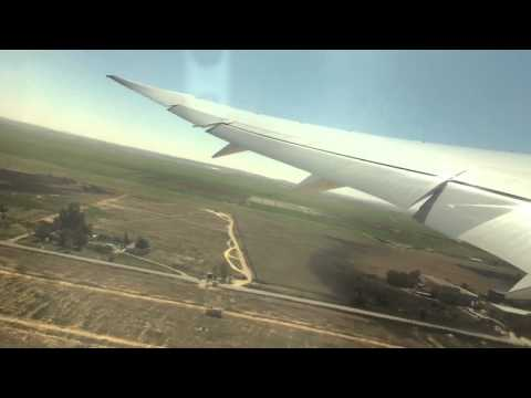 Royal jordanian take off from amman to Chicago Ohare boeing 787 dreamliner