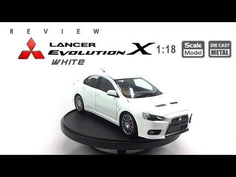 โมเดลรถ MITSUBISHI Evolution X (White) ขนาด scale 1:18