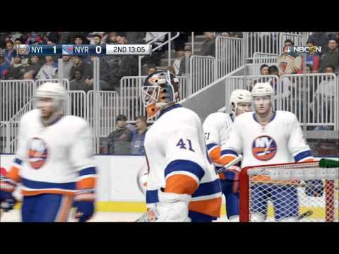 NHL 16 - New York Islanders vs New York Rangers Gameplay (XboxONE HD) [1080p60FPS]