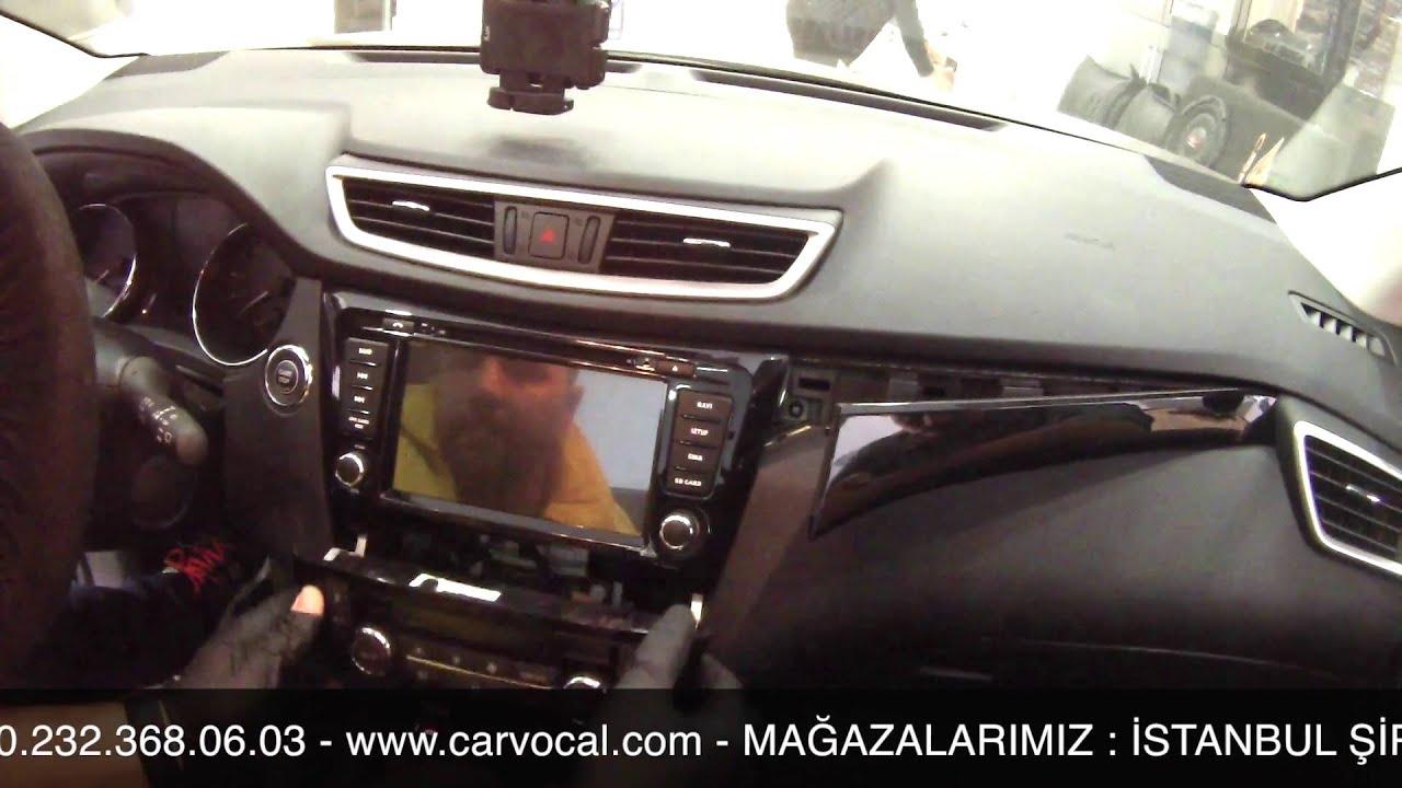 nissan qashqai android navigasyon multimedya sistemi montajı - youtube